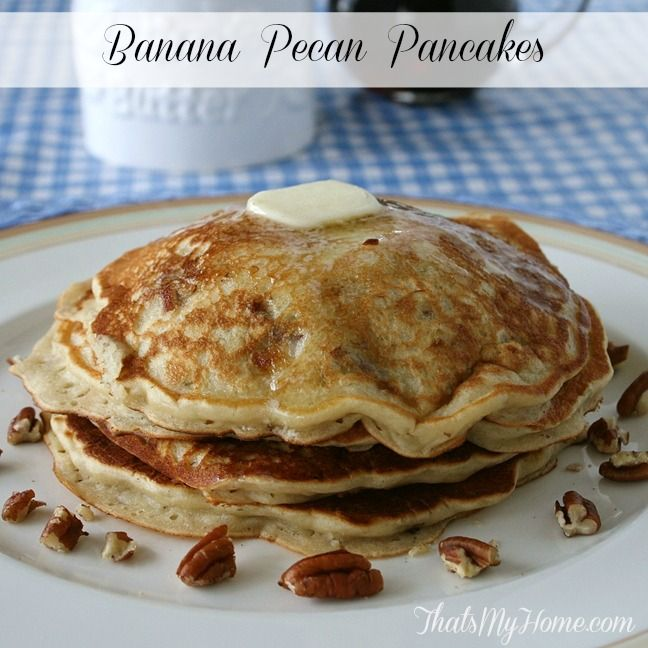 Recipes, Food and Cooking Banana Pecan Pancakes » Recipes, Food and ...