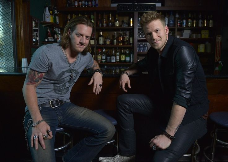 """Hey girl, can we buy you a drink?"" Florida Georgia Line's Tyler Hubbard and Brian Kelley hang out before their performance at the Troubadour on Nov. 25 in Los Angeles"