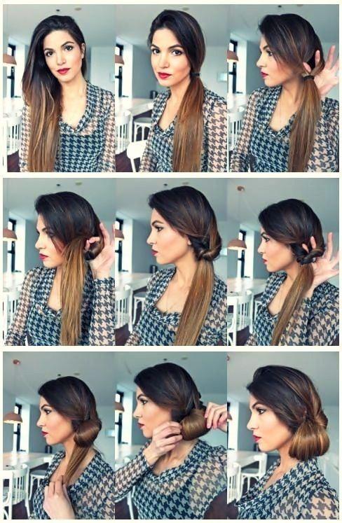 Как сделать рогалики из волос на голове