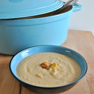 Roasted Cauliflower and Cheddar Soup | No Soup for you... Soup for me ...
