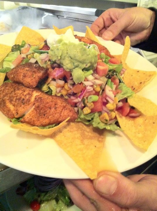 of Chicken with Southwestern Spices, Roasted Corn, Black Bean Salsa ...