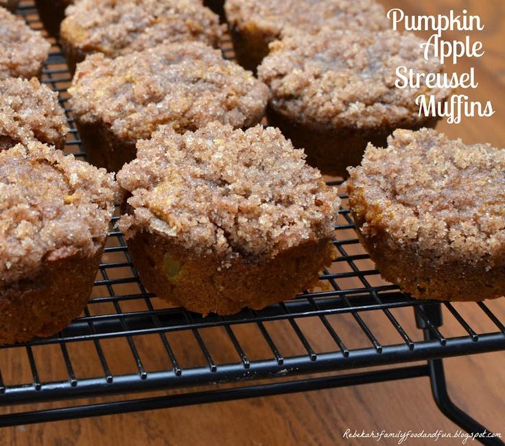 Pumpkin Apple Streusel Muffins | Desserts | Pinterest