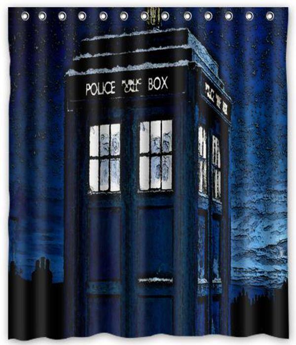 Dr Who Tardis Curtain Shower Bath 66 Quot X 72 Quot