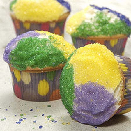 Mardi Gras King cake recipe | Mardi Gras King Cupcakes Recipe