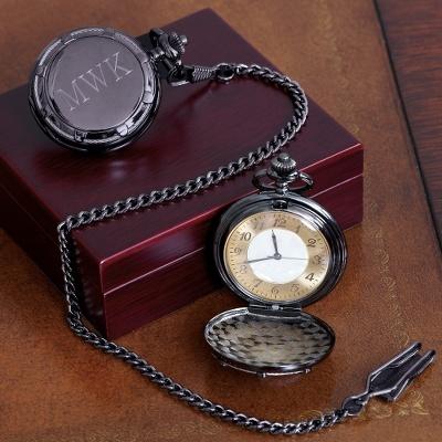 Pocket Watch for Groomsman | Personalized Pocket Watch- Greensboro, NC