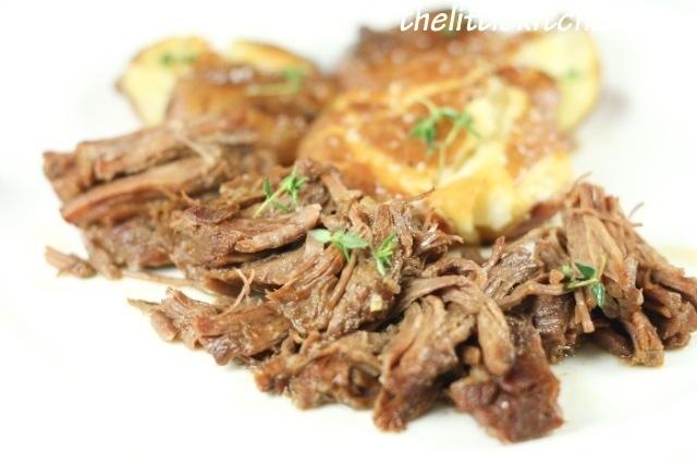 Classic Roast Beef Recipe & Smashed Yukon Gold Potatoes