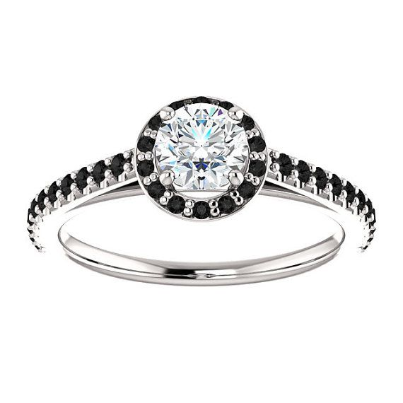 Diamond Engagement Ring Halo Engagement Ring Wedding Rings Ring Jewelry