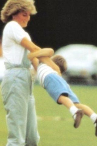 Diana swinging William around 1987