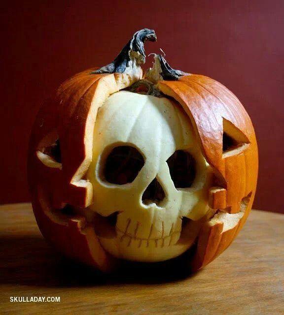 Cool Jack O Lantern Idea Holiday Halloween Pinterest