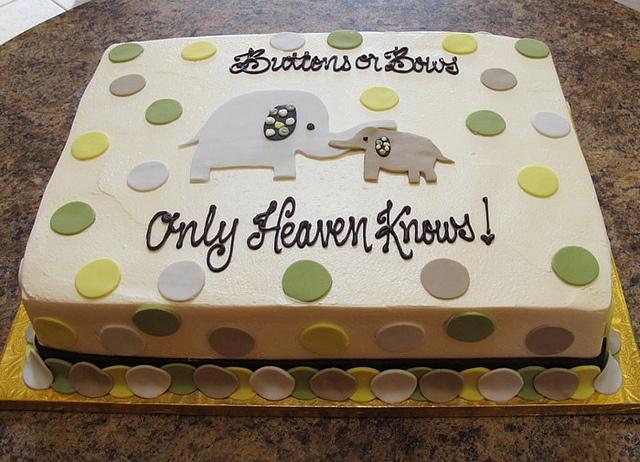 elephant sheet cake