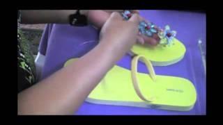 Sandalias Decoradas (parte 1) cASA dEl aRtE, via YouTube.