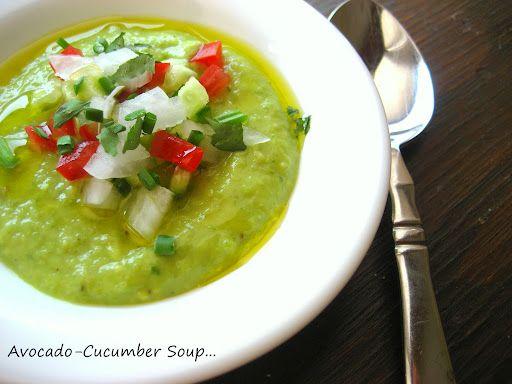 Home Cooking In Montana: Cold Avocado-Cucumber Soup... Gordon Ramsay.
