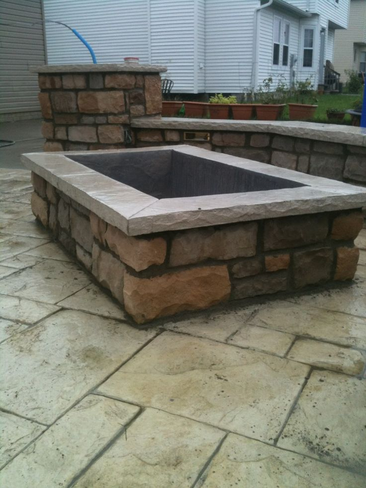 square fire pit patio ideas pinterest