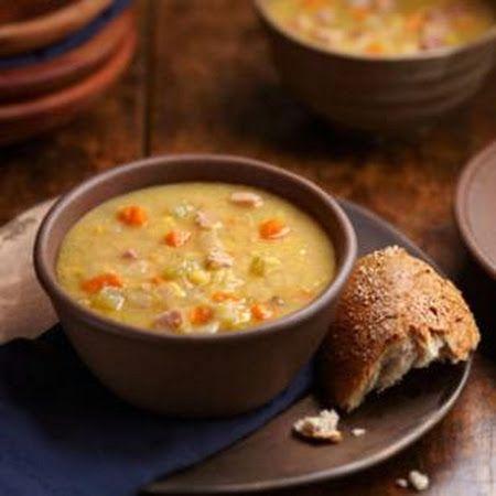 Swedish Yellow Split Pea Soup with Ham New Years Day's crocking
