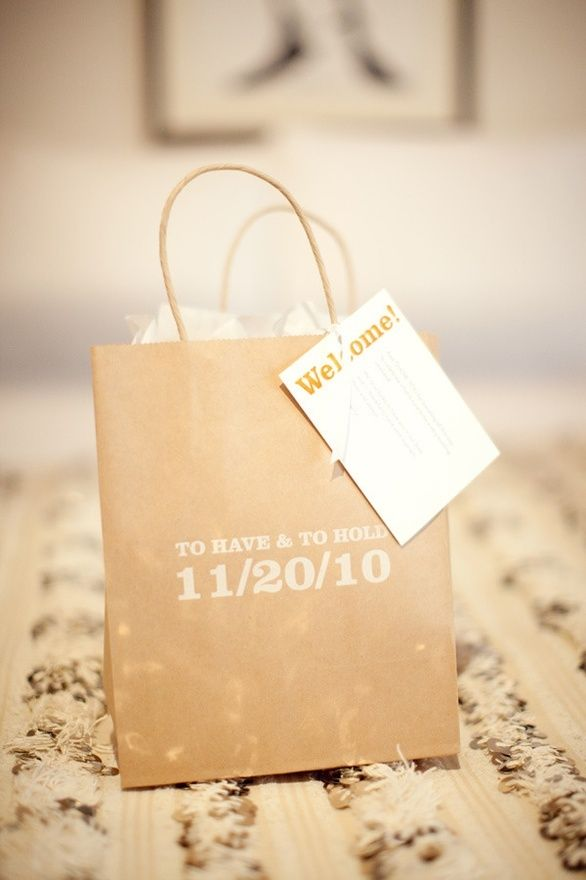 Wedding Favor Bags For Hotel Guests : Guest bags Sadie Sadie, Married Lady Pinterest