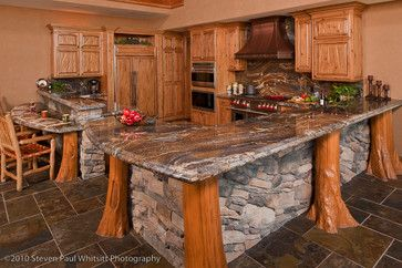 Kitchen bar rustic kitchen log cabin designs pinterest