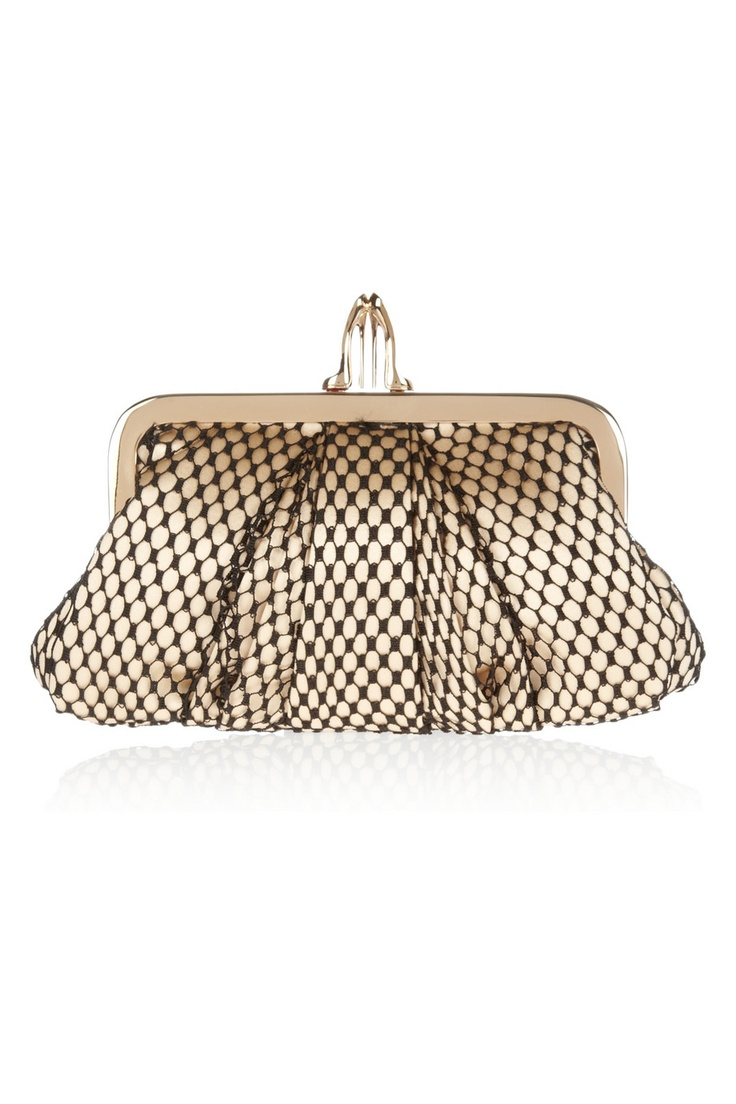 Christian Louboutin | The Mini Loubi Lula satin and lace frame clutch | NET-A-PORTER.COM