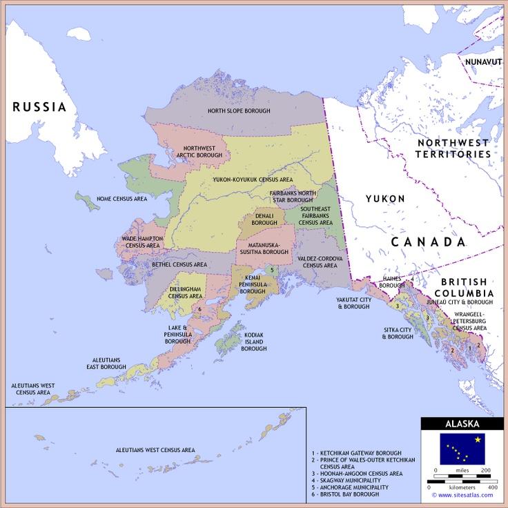 Alaska County Map  Vacation Alaska  Pinterest