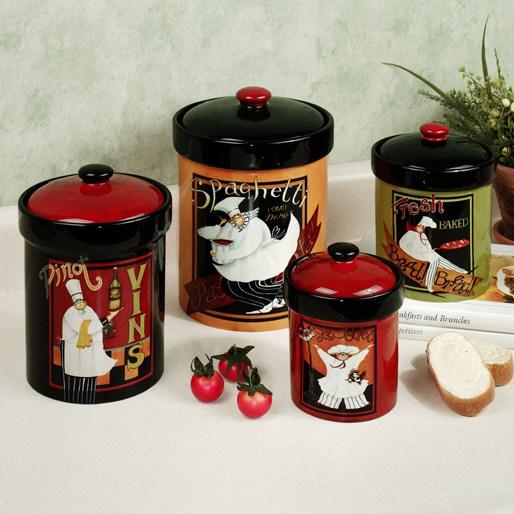 international chefs canisters so cute for the kitchen