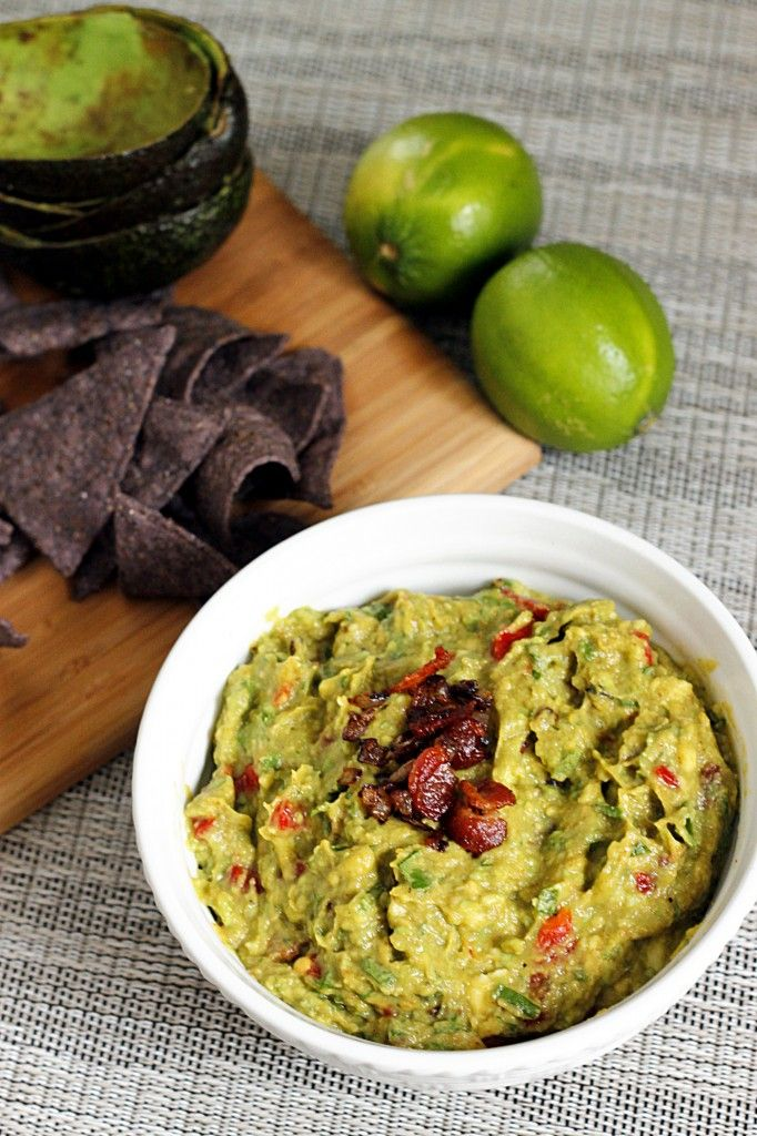 Roasted Garlic and Bacon Guacamole | things to eat and drink | Pinter ...