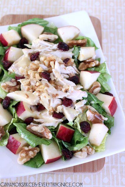 Cranberry Apple Chicken Salad w/ Honey Mustard Dressing | Recipe