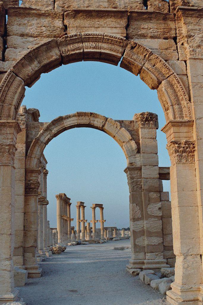 roman arches palmyra architecture pinterest