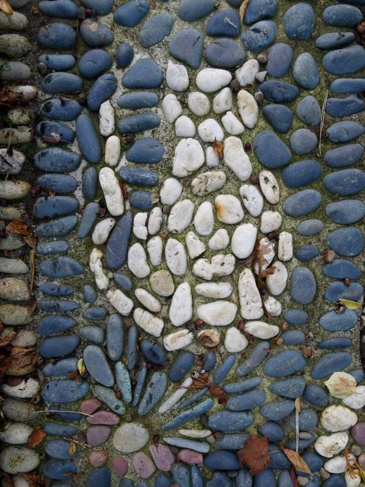 Pebble Mosaic Cat Pebble Mosaics Pinterest