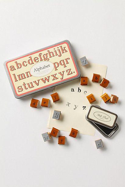 Alphabet Stamp Set - Anthropologie.com