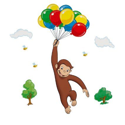 Pin by janet lee on party pinterest for Curious george giant wall mural