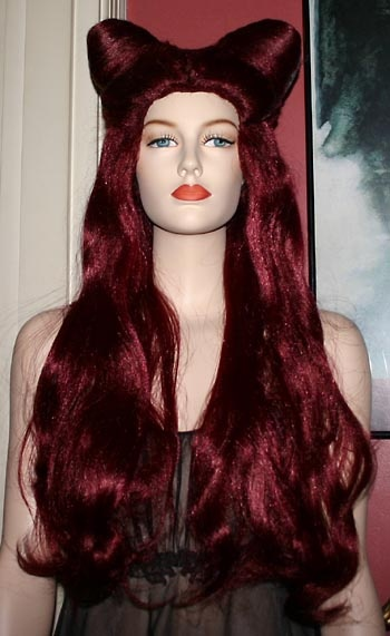 Long Red Poison Ivy Wig 3
