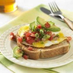 Southwestern Whole Grain Egg Sandwich ~ eggs, cheddar cheese, salsa ...