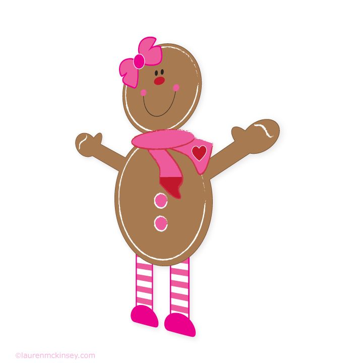 gingerbread-girl_iron-on-transfers_1 | CAJAS IMPRIMIBLES Y OTROS | Pi ...