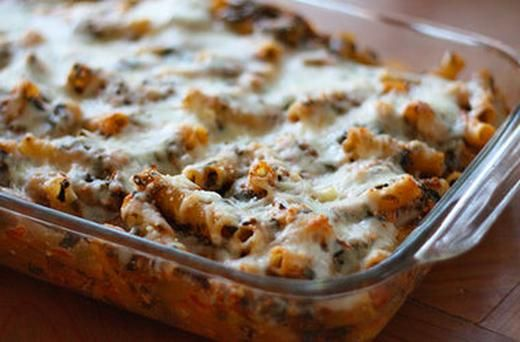 Low Fat Baked Ziti with Spinach | Recipes | Pinterest