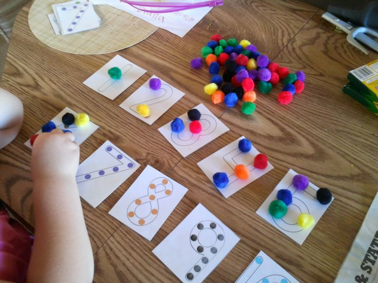 Numbers and pom pom activity | Kids | Pinterest