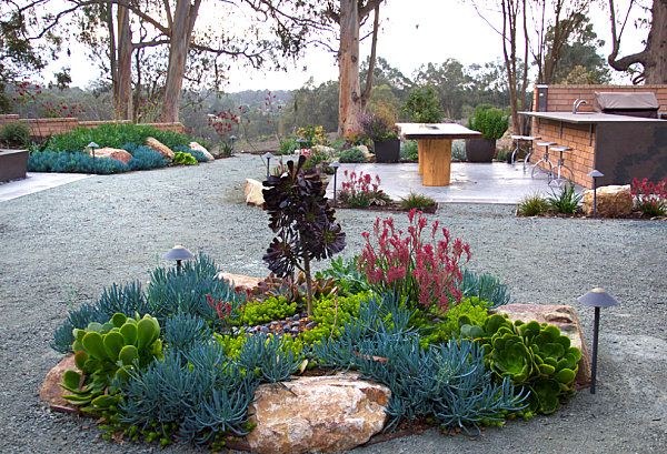Xeriscaped Backyard Design : Backyard patio ideas  Modern Xeriscaping Ideas For Your Outdoor Space