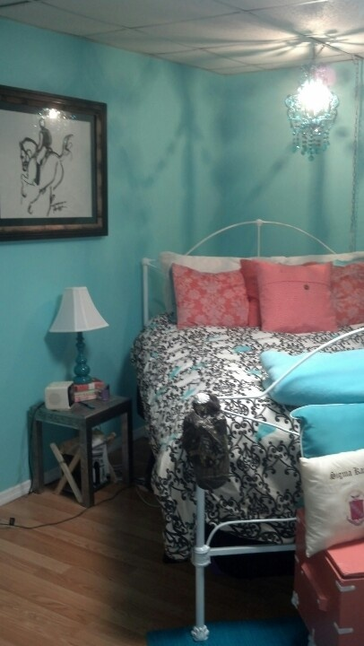 turquoise and coral college bedroom for the home pinterest