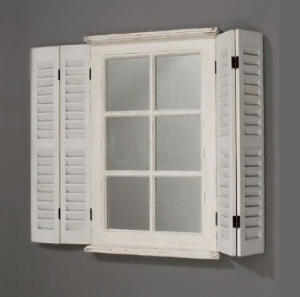 Shutter Window Mirror Diy Craft Ideas Pinterest