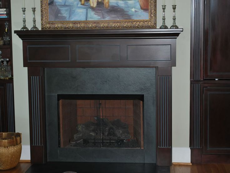 Slate Surround Fireplace Mantel My House Pinterest