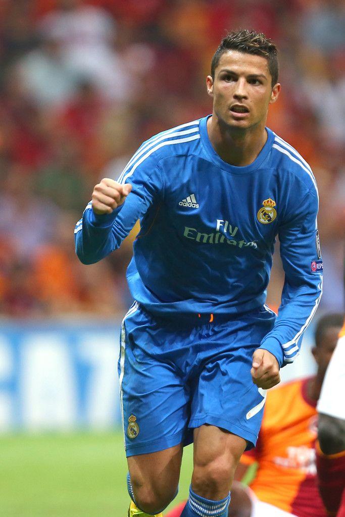 Cristiano Ronaldo celebrates his goal against Galatasaray during the ...