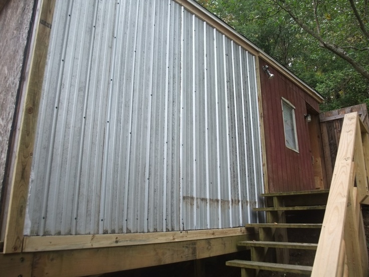 Steel Siding Recycled Materials : Recycled tin siding the can camp davis pinterest