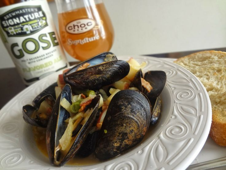 Beer Steamed Mussels With Bacon and Potatoes by my husberand Jeremiah