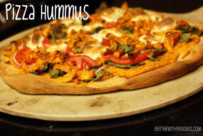 Pizza Hummus + Ideas for Use #vegan #hummus #pizza