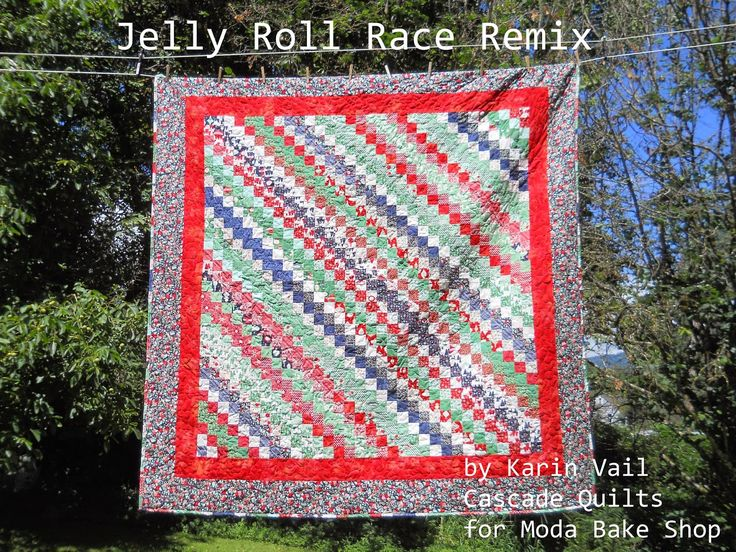 Quilt Patterns Using Moda Jelly Rolls : Moda Bake Shop: Jelly roll race remix Quilting tutes & patterns P?