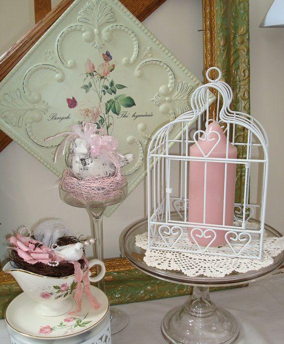 Metal BirdcageWhite Home Decor