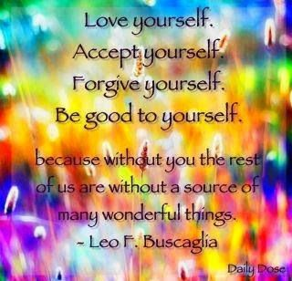 Love yourself. Accept yourself. Be good ..  #good #accept #yourself #life #quote #positive #respect
