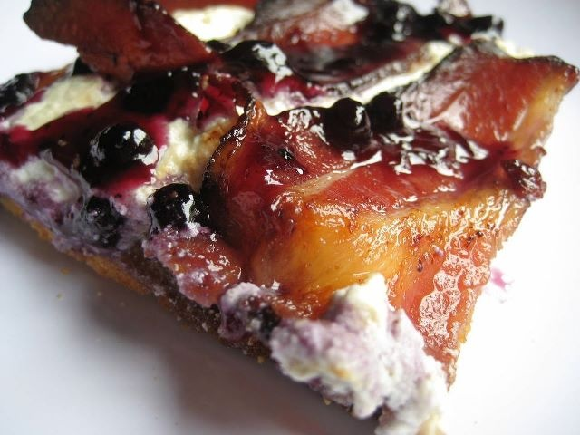 Ricotta, Bacon, and Wild Blueberry Jam Pizza