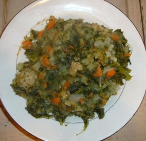 ... Boerenkool stamppot - a Dutch favorite! Mashed potatoes, veggies, kale