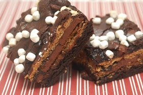 BROWNIES STUFFED WITH S'MORES   Baking & Desserts   Pinterest