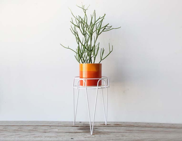 Modern Metal Hairpin Plant Stand. $44.00, via Etsy.