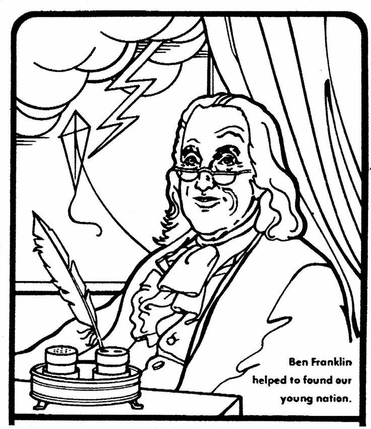 Similiar Benjamin Franklin Printable To Color Keywords